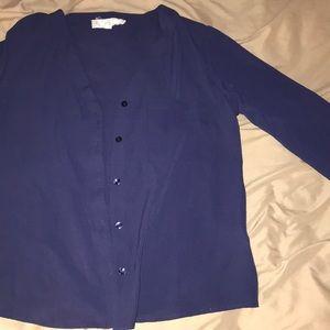 A sheer navy blouse!!